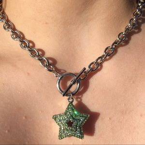 Green Star Chain Necklace